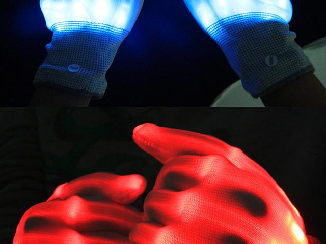Led Light Finger Gloves