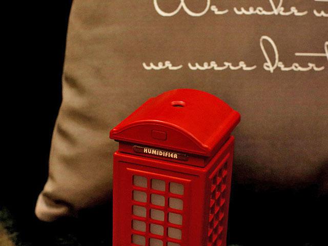 Usb retro telephone booth humidifier for Bedroom 80 humidity