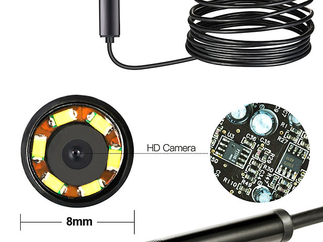 2-in-1 USB Home Endoscope (720p)