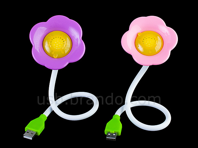 Usb Flower Aroma Diffuser With Light
