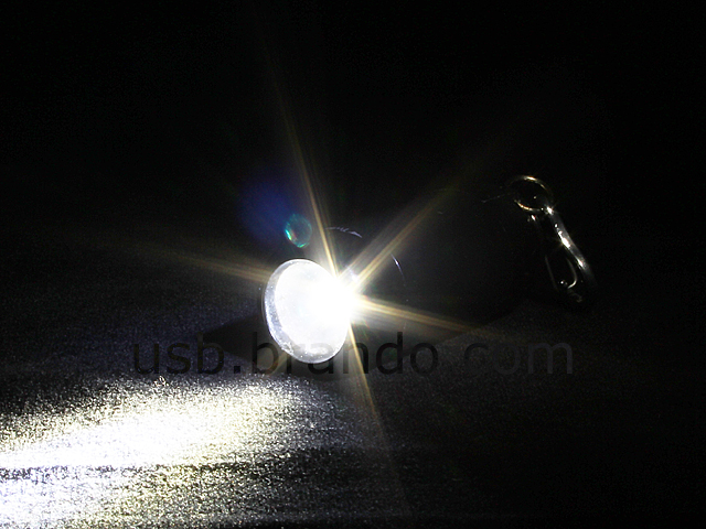 2-in-1 USB Mini Torch Keychain