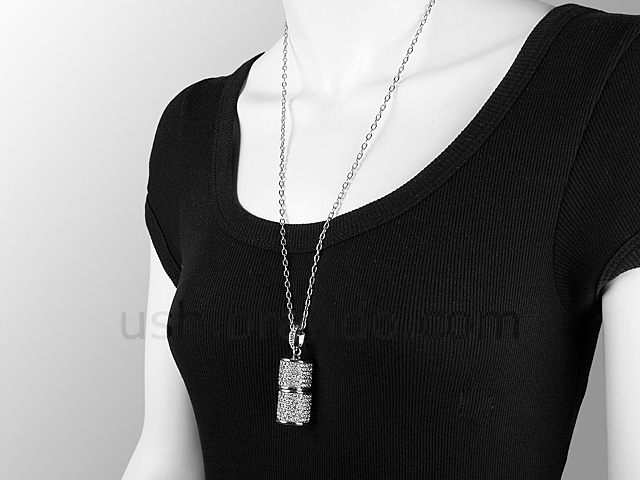 USB Jewel Pendant Necklace Flash Drive