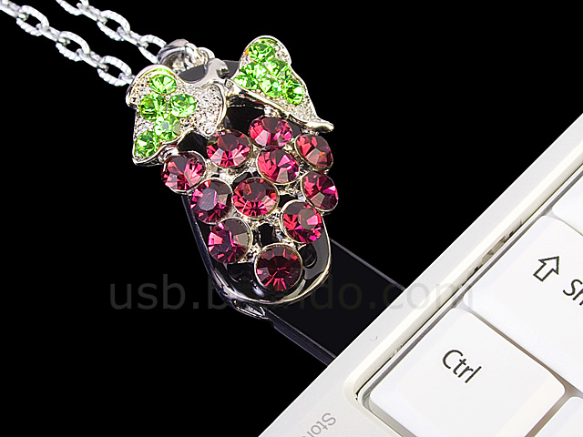 USB Jewel Grapes Necklace Flash Drive