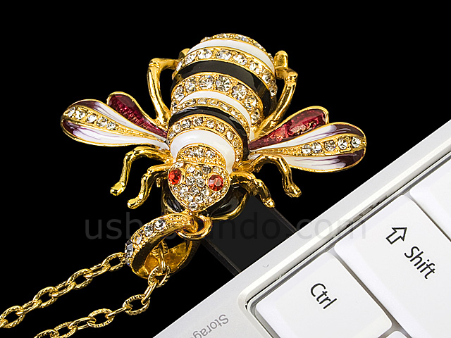 USB Jewel Bee Necklace Flash Drive