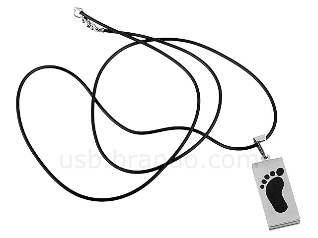 USB Foot Necklace Flash Drive