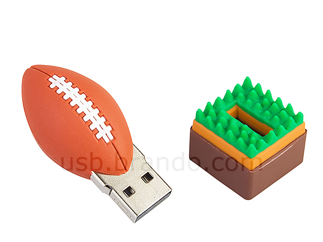 USB Mini Rugby Ball Flash Drive