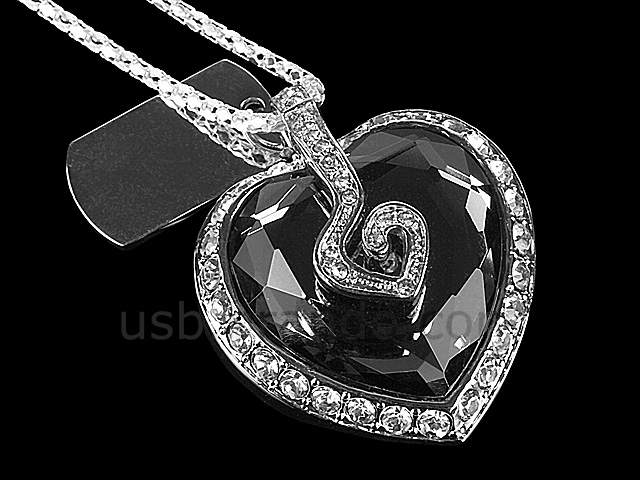 USB Jewel Noble Heart Necklace Flash Drive