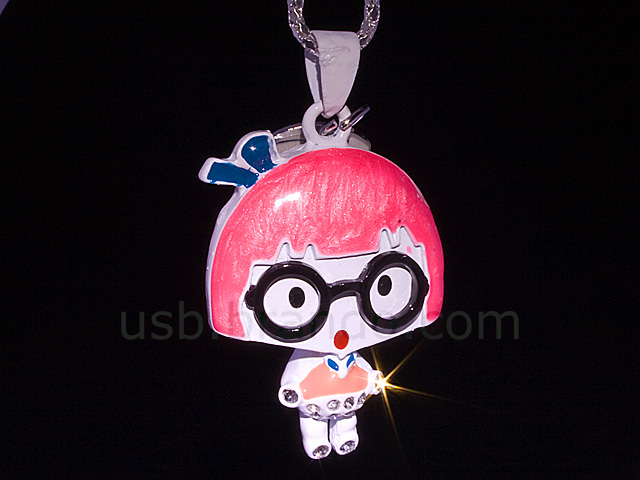 USB Jewel Gal Necklace Flash Drive