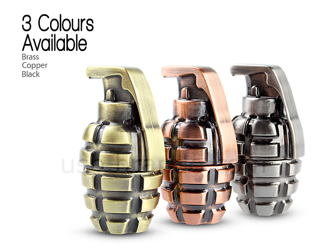 USB Metallic Hand Grenade Flash Drive