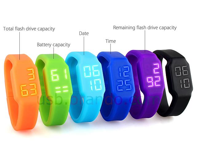 Usb Led Watch Flash Drive