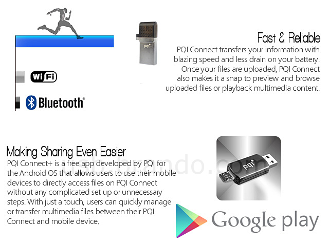PQI Connect 201 2-in-1 USB Flash Drive