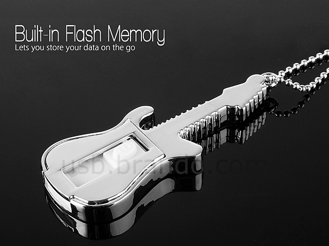 USB Rock Guitar Necklace Flash Drive