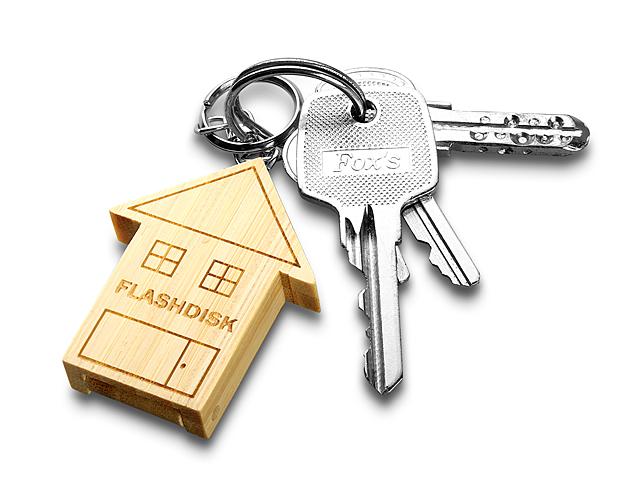 USB Bamboo My Home Keychain Flash Drive f07ad791d482