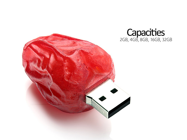 USB Red Date Flash Drive