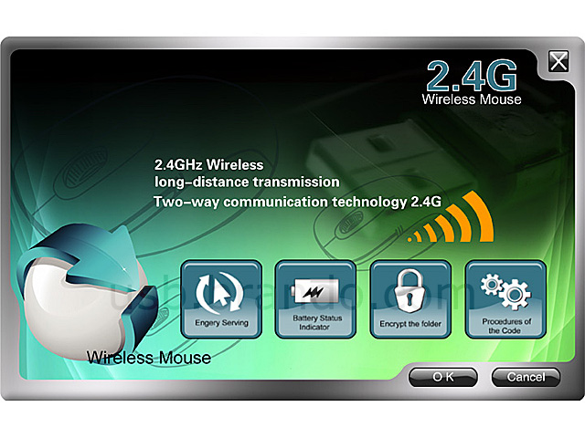 2.4GHz Wireless Mouse with Folder Encryption