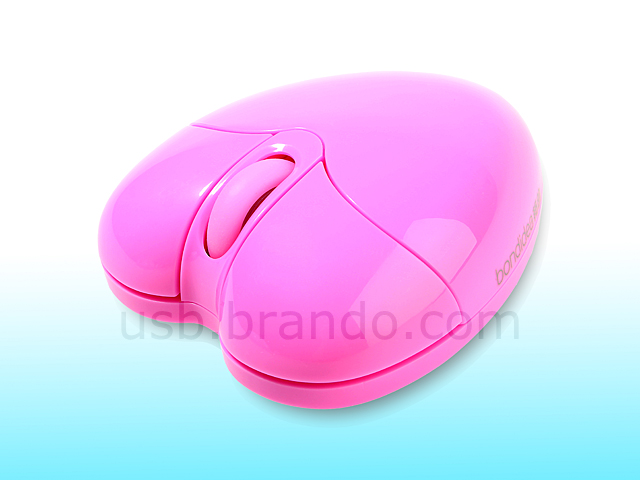 Usb Twins Heart Wireless Mouse