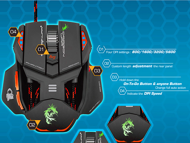 Dragon War ELE-G4 Phantom USB Gaming Mouse