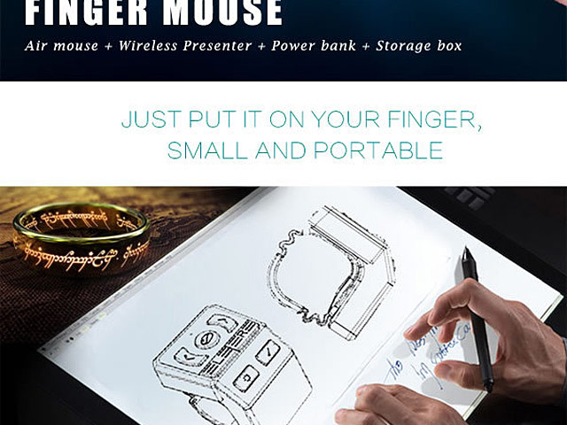 Multi-Function Wireless Finger Mouse