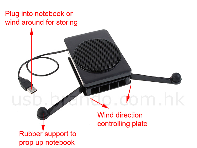 USB Notebook Pocket Cooler