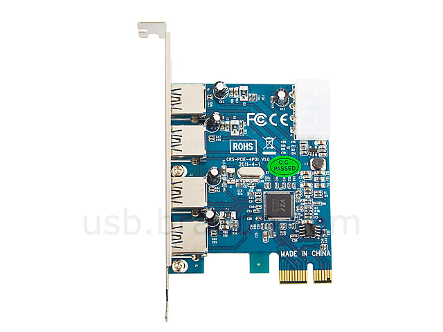 4-Port USB 3.0 PCI Express Card