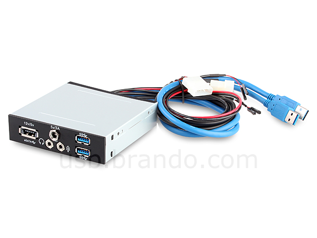 "USB 3.0 3.5"" Front Panel (2-Port USB 3.0 + Audio Port + Power Over eSATA + 5V/3A Power Supply)"