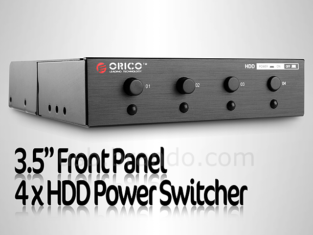 3 5 front panel 4 x hdd power switcher