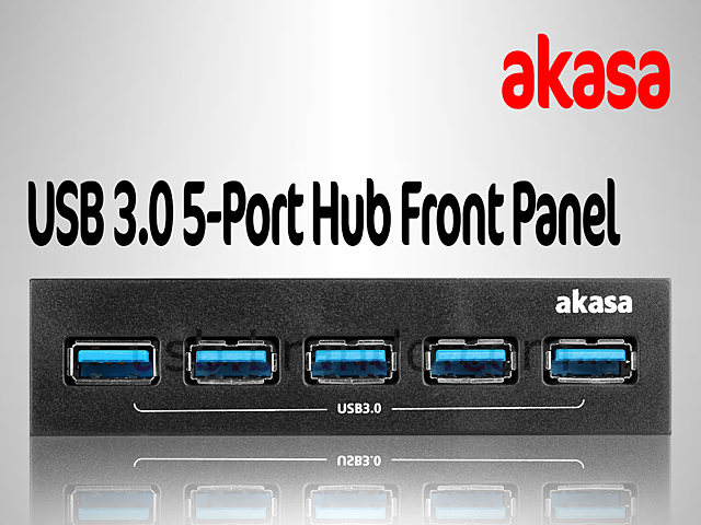 Akasa USB 3.0 5-Port Hub Front Panel