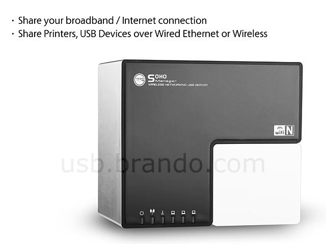 Wireless-N Networking USB 2.0 Server