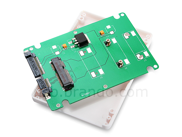 mSATA SSD to SATA 22-Pin Adapter with 7mm Case