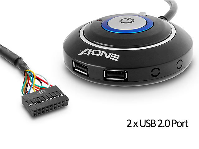 Desktop Power Button with 2 x USB 2 0 Ports