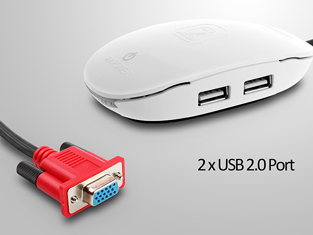 Vga Desktop Power Button With 2 X Usb 2 0 Ports