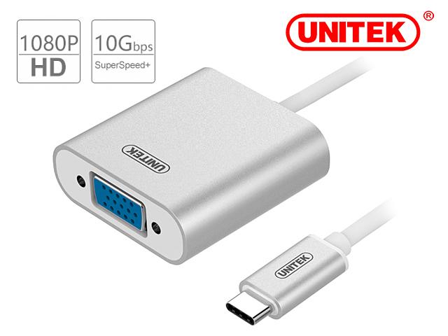 UNITEK Y-6308 USB 3.1 USB-C to VGA Converter
