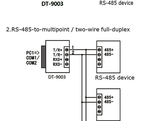 Passive Rs232 To Rs422  Rs485 Converter