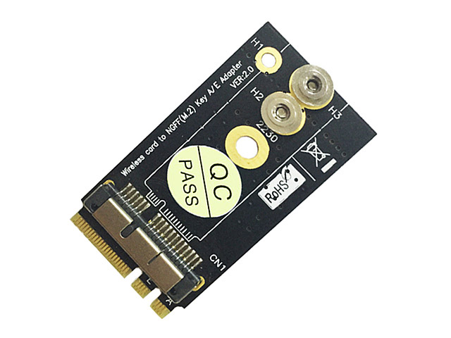 BCM94360CS2 BCM943224PCIEBT2 Wireless Card to NGFF M.2 Key A/E Adapter