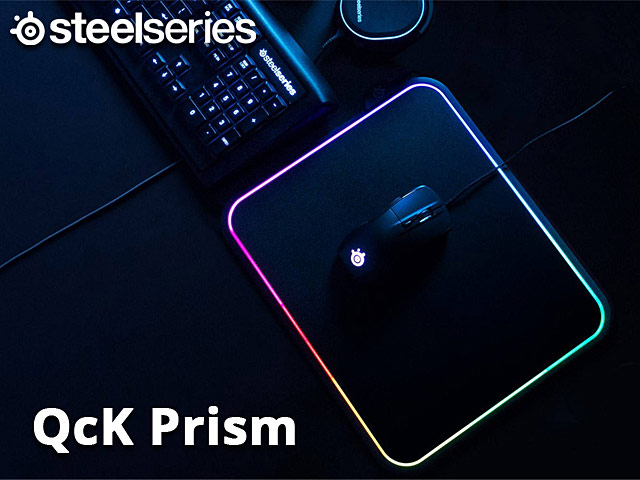 beda9817511 SteelSeries QcK Prism Illuminated Mousepad