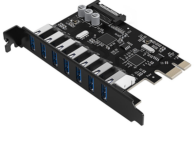 ORICO 7-Port USB3.0 PCI-E Expansion Card with Dual Chip