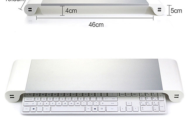 Spacebar Monitor Stand with 4-Port USB