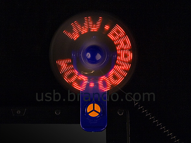 USB LED Message Clip Fan
