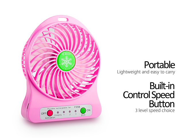 Mini Portable USB Rechargeable Fan