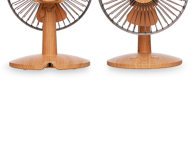 Retro Wooden Desk Fan
