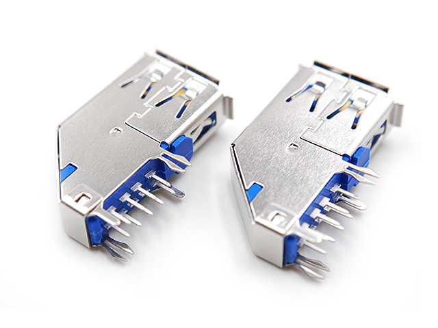 USB 3.0 Type A Female DIP Connector (Horizontal 90°)