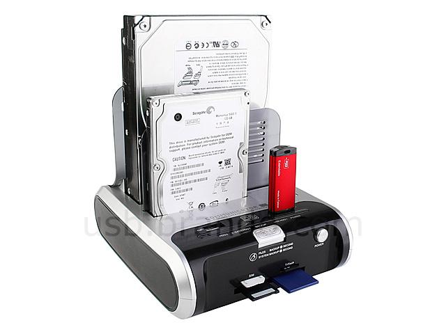 "Card Reader USB// eSATA Multi-Function SATA 3.5/""//2.5/"" HD Quick Dock// USB Hub"