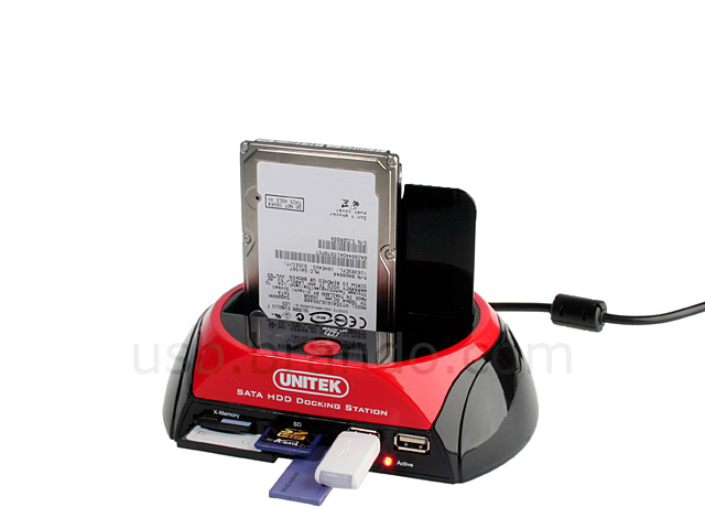 SATA HDD Multi-Function Dock with One Touch Backup (USB + eSATA) (Y-1040CN)
