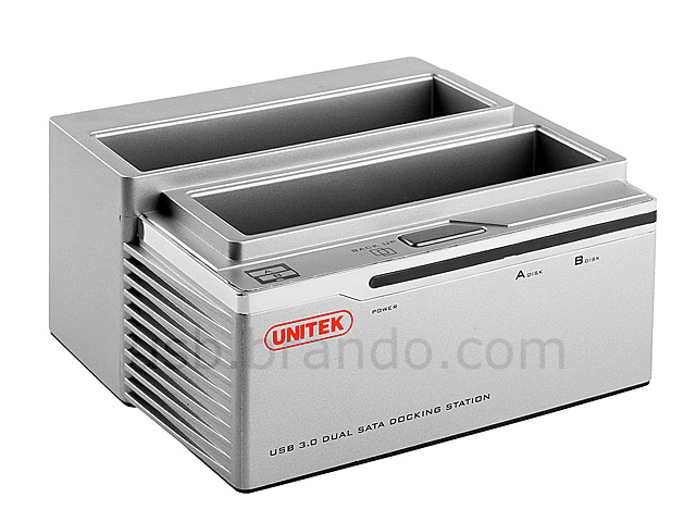 USB 3.0 Dual SATA HDD Dock with One Touch Backup
