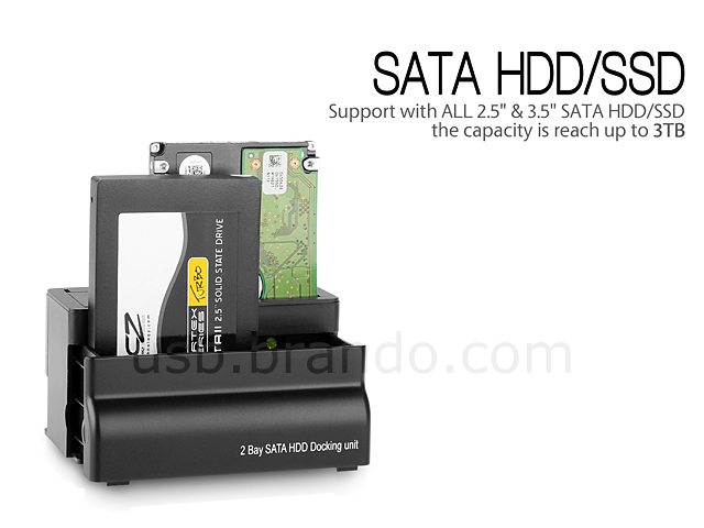 USB 3.0 Dual SATA HDD Dock with OTB