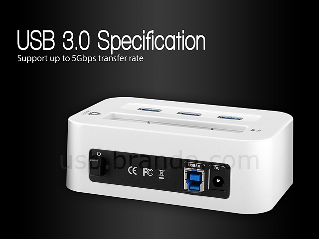 "ORICO USB 3.0 2.5"" SATA HDD Dock with 3-Port Hub"