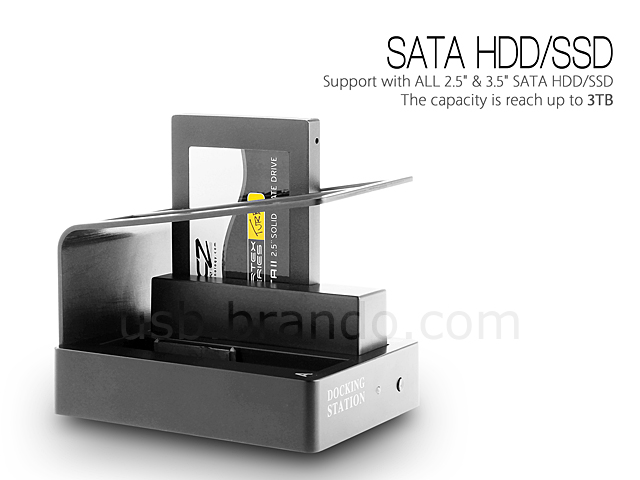 USB 3.0 Dual SATA HDD Dock with OTB (K304)