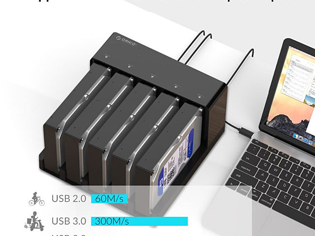 5-Bay USB 3.0 SATA HDD Duplicator Dock