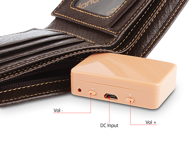 4.5 Watts GSM Wallet with Wireless Spy Earpiece