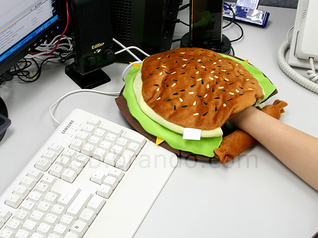 USB Burger Warmer Mouse Pad
